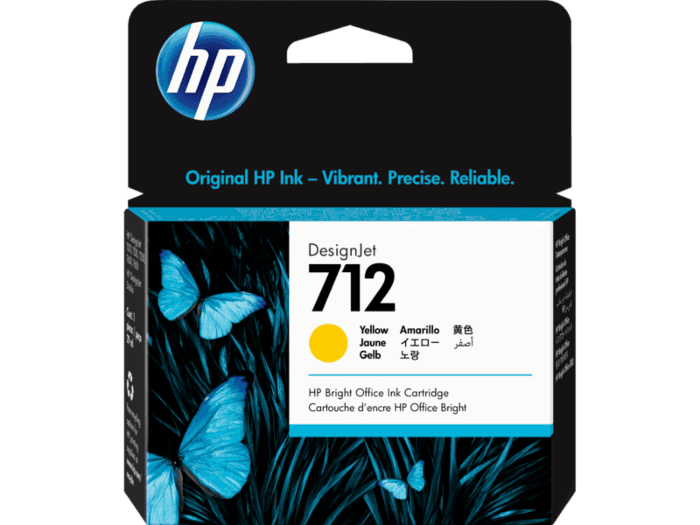 HP 712 29-ml Yellow DesignJet Ink Cartridge