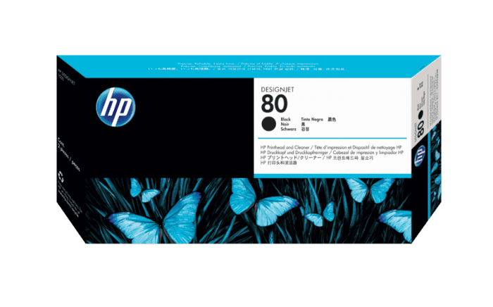 HP 80 Black DesignJet Printhead and Printhead Cleaner