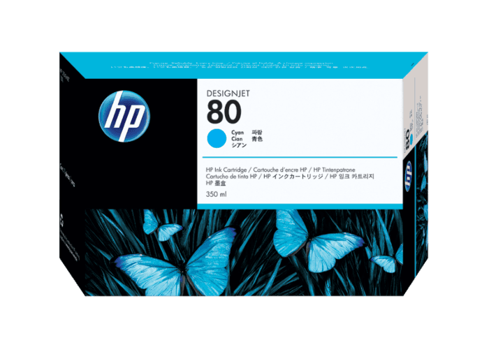 HP 80 350-ml Cyan DesignJet Ink Cartridge