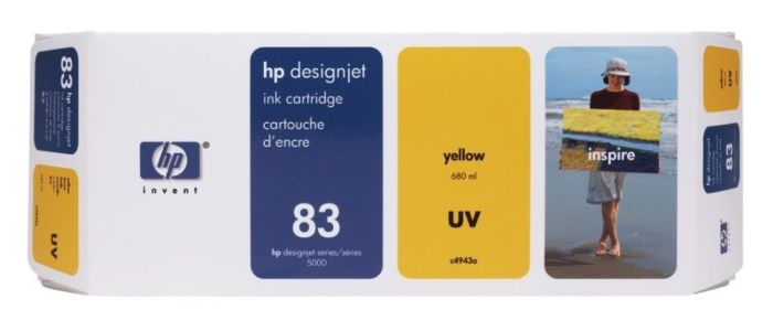 HP 83 680-ml Yellow DesignJet UV Ink Cartridge