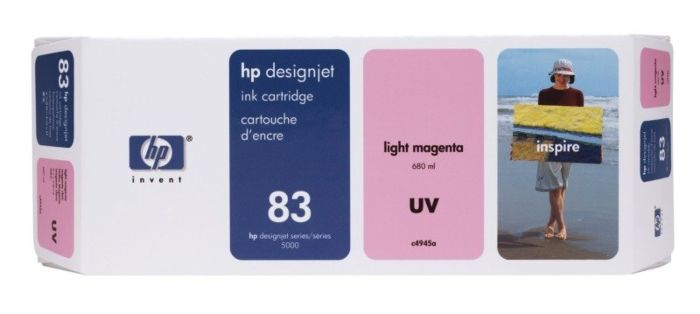 HP 83 680-ml Light Magenta DesignJet UV Ink Cartridge