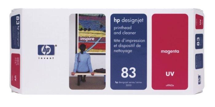 HP 83 Magenta DesignJet UV Printhead and Printhead Cleaner