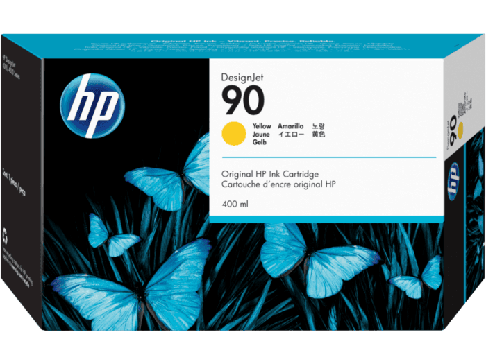 HP 90 400-ml Yellow DesignJet Ink Cartridge