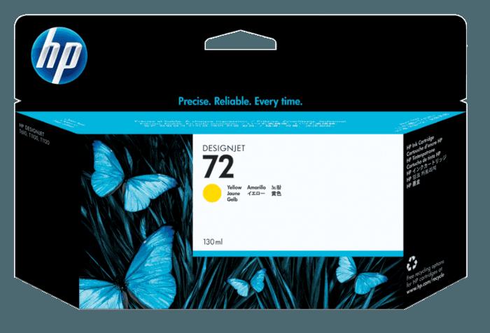 HP 72 130-ml Yellow DesignJet Ink Cartridge
