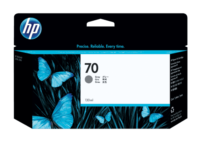 HP 70 130-ml Gray DesignJet Ink Cartridge