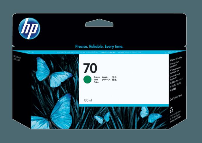 HP 70 130-ml Green DesignJet Ink Cartridge