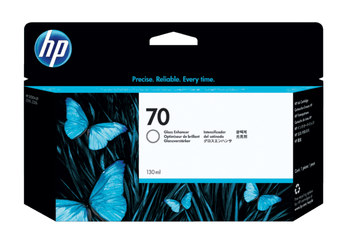 HP 70 130-ml Gloss Enhancer DesignJet Ink Cartridge