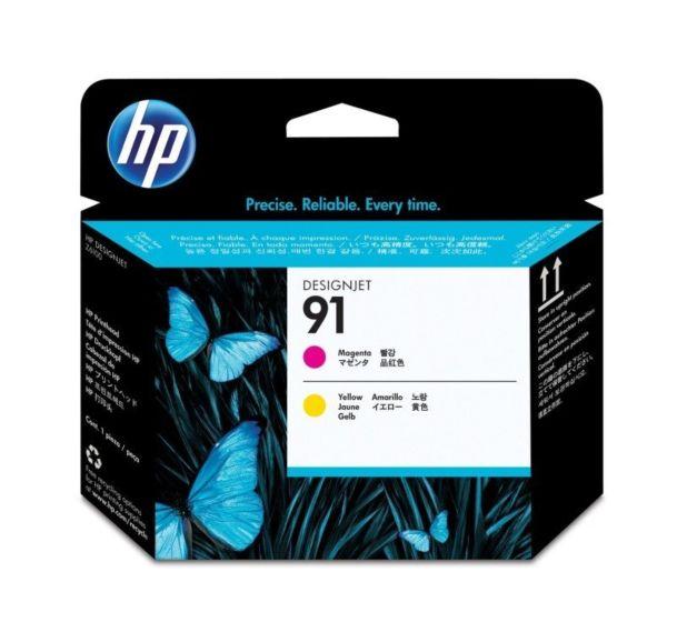 HP 91 Magenta and Yellow DesignJet Printhead