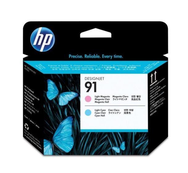 HP 91 Light Magenta and Light Cyan DesignJet Printhead