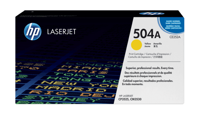 HP 504A Yellow Original LaserJet Toner Cartridge