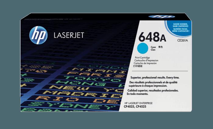 HP 648A Cyan Original LaserJet Toner Cartridge