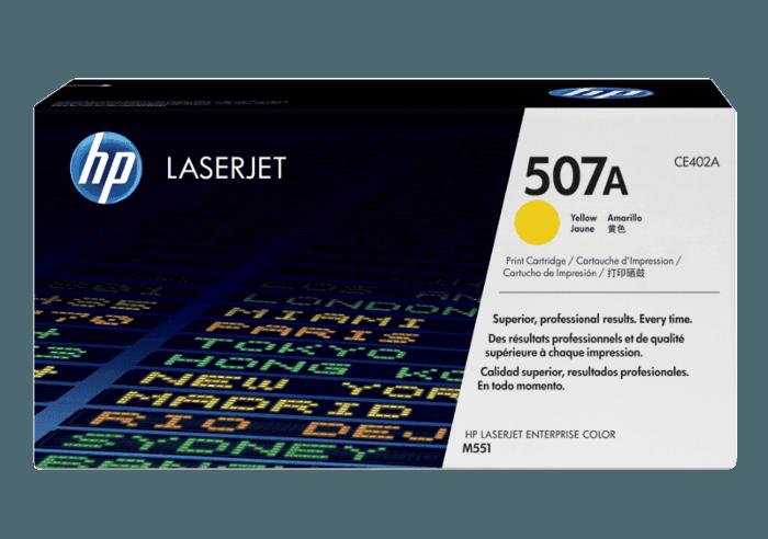 HP 507A Yellow Original LaserJet Toner Cartridge