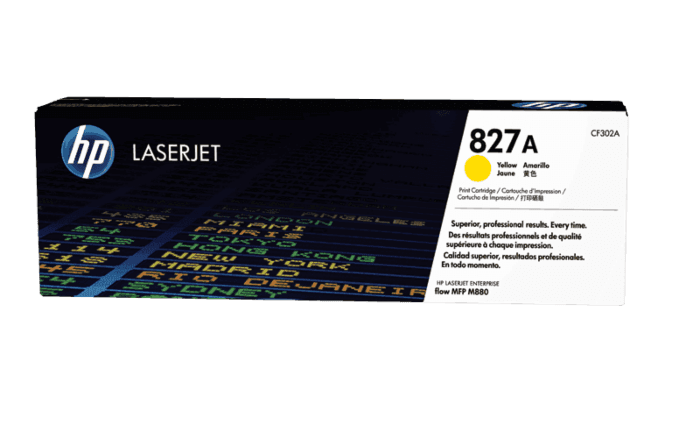 HP 827A Yellow Original LaserJet Toner Cartridge