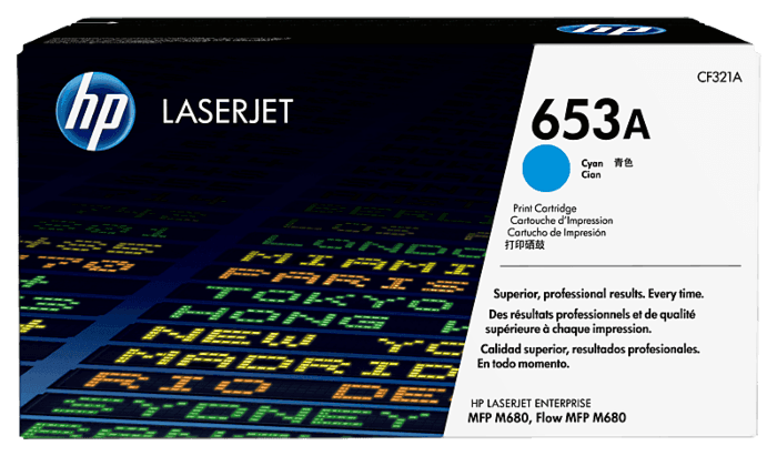 HP 653A Cyan Original LaserJet Toner Cartridge