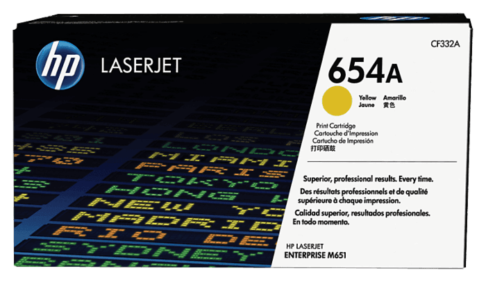 HP 654A Yellow Original LaserJet Toner Cartridge