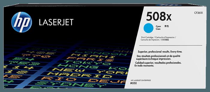 HP 508X High Yield Cyan Original LaserJet Toner Cartridge