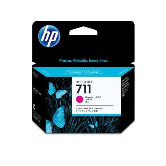 HP 711 3-pack 29-ml Magenta DesignJet Ink Cartridges