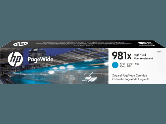 HP 981X High Yield Cyan Original PageWide Cartridge