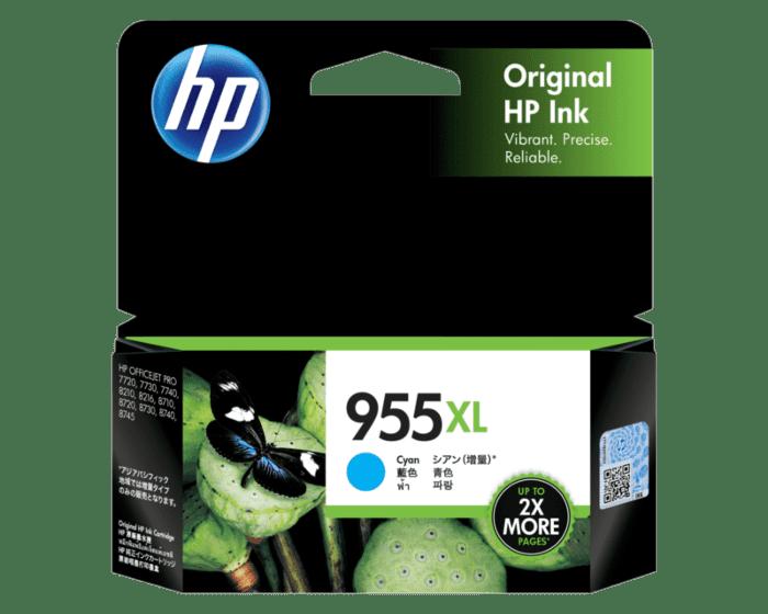 HP 955XL High Yield Cyan Original Ink Cartridge