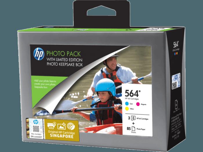 HP 564 Series Photosmart Value Pack-85 sht/10 x 15 cm with Photo Storage Box