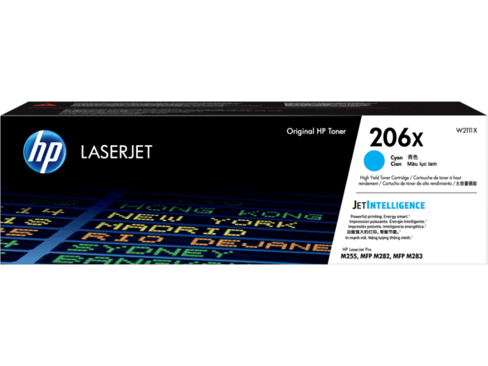 HP 206X High Yield Cyan Original LaserJet Toner Cartridge