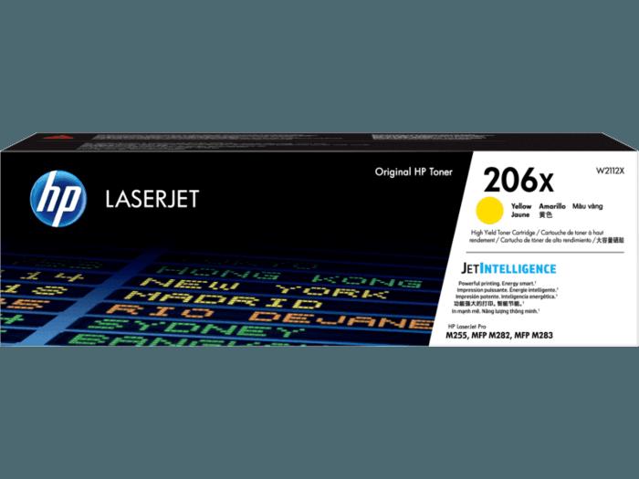 HP 206X High Yield Yellow Original LaserJet Toner Cartridge
