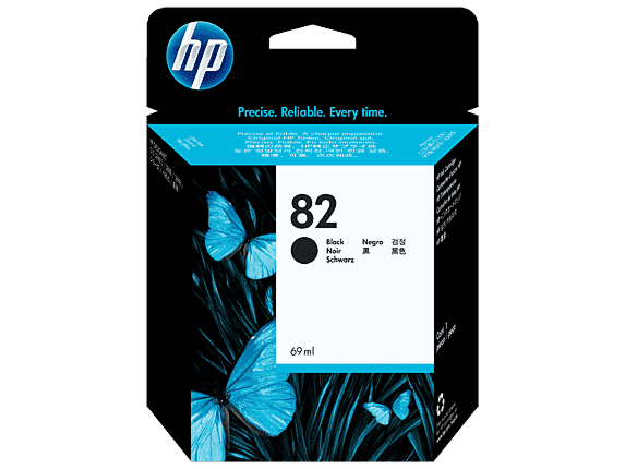 HP 82 69-ml Black DesignJet Ink Cartridge
