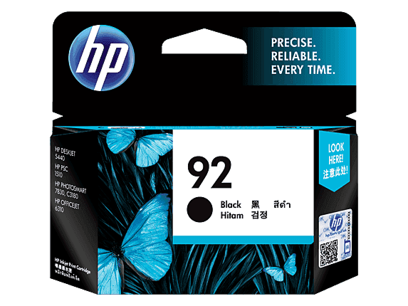 HP 92 Black Original Ink Cartridge