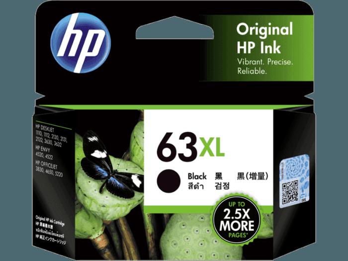 HP 63XL High Yield Black Original Ink Cartridge
