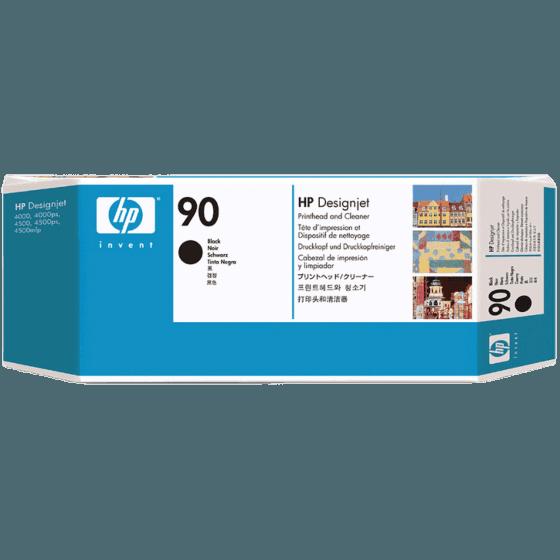 HP 90 Black DesignJet Printhead and Printhead Cleaner