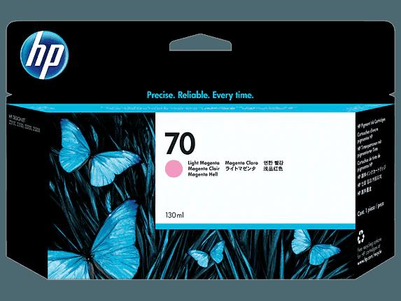 HP 70 130-ml Light Magenta DesignJet Ink Cartridge