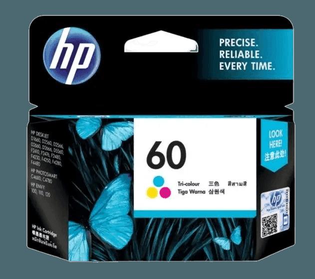 HP 60 Tri-color Original Ink Cartridge