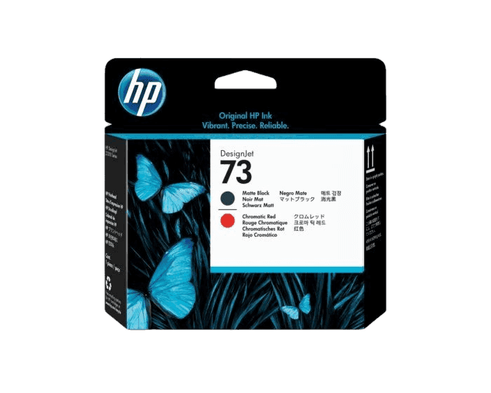 HP 73 Matte Black and Chromatic Red DesignJet Printhead