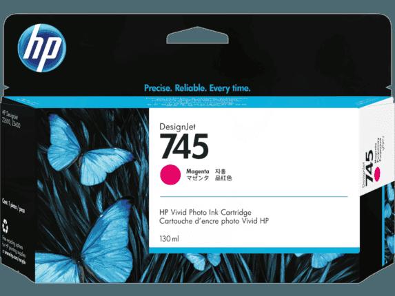 HP 745 130-ml DesignJet Magenta Ink Cartridge