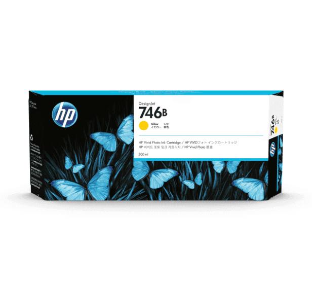 HP 746B 300-ml Yellow DesignJet Ink Cartridge